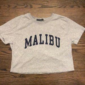 Malibu crop top from Brandy Melville.